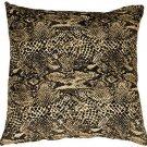 Pillow Decor - Snake Print Cotton Small Throw Pillow  - SKU: PC1-0003-01-17
