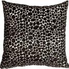 Pillow Decor - Pony Spots Black and White 16x16 Throw Pillow