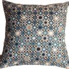 Pillow Decor - Houndstooth Spheres 18x18 Blue Throw Pillow