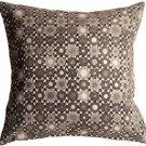 Pillow Decor - Houndstooth Spheres 18x18 Gray Throw Pillow