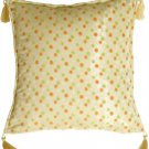 Pillow Decor - Lots of Dots in Orange and Lime Accent Pillow