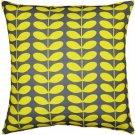 Pillow Decor - Mid-Century Modern Yellow Throw Pillow 20x20