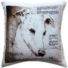 Pillow Decor - Greyhound 17x17 Dog Pillow  - SKU: LE1-0023-01-17