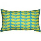 Pillow Decor - Mid-Century Modern Turquoise Throw Pillow 12x20