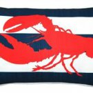 Pillow Decor - Red Lobster Nautical Throw Pillow 12X20  - SKU: PD2-0021-01-92