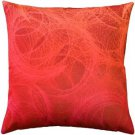 Pillow Decor - Feather Swirl Red Throw Pillow 20x20  - SKU: SK1-0001-01-20
