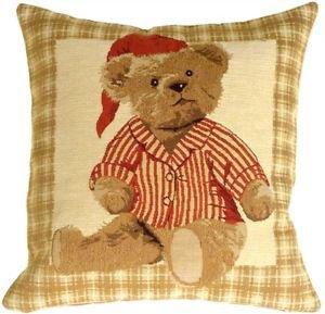 Pillow Decor - Tapestry Sleepy Time Teddy Pillow  - SKU: BA1-0003-01-13