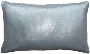 Pillow Decor - Tuscany Linen Silver Metallic 12x20 Throw Pillow