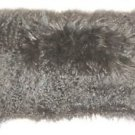 Pillow Decor - Mongolian Sheepskin Gray Rectangular Pillow