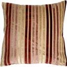 Pillow Decor - Velvet Multi Stripes Mauve 20x20 Throw Pillow