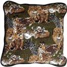 Pillow Decor - Safari Print Cotton Large Throw Pillow  - SKU: PC1-0008-01-22