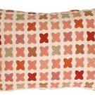 Pillow Decor - Cherry Cross on Sand Rectangular Decorative Pillow