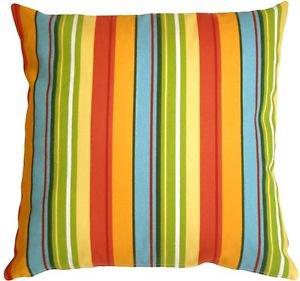 Pillow Decor - Bistro Stripes Azalea 20x20 Outdoor Pillow  - SKU: PD1-0130-01-20