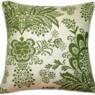 Pillow Decor - Rustic Floral Green 20x20 Throw Pillow  - SKU: VC1-0003-04-20