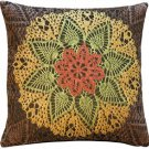 Pillow Decor - Crochet Flower 19x19 Tapestry Pillow - SKU: AB1-5276-01-20