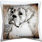Pillow Decor - Boxer 17x17 Dog Pillow  - SKU: LE1-0018-01-17