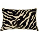 Pillow Decor - Linen Zebra Print 16x24 Throw Pillow  - SKU: NB1-0003-01-69