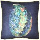 Pillow Decor - Shoal Cape Abalone Solitaire Throw Pillow 20x20