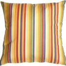 Pillow Decor - Sunbrella Castanet Beach Stripes 20x20 Outdoor Pillow