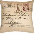 Pillow Decor - Postcard to Paris 24x24 Throw Pillow  - SKU: VB1-0009-01-24