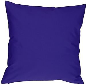 Pillow Decor - Caravan Cotton Royal Blue 16x16 Throw Pillow
