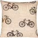 Pillow Decor - Vintage Bicycle 22x22 Throw Pillow  - SKU: VB1-0023-01-22