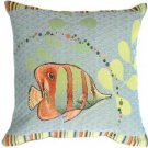 Pillow Decor - Tropical Fish French Tapestry Throw Pillow - SKU: AB1-5033-00-19