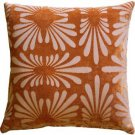 Pillow Decor - Velvet Daisy Orange 20x20 Throw Pillow  - SKU: DC1-0005-03-20