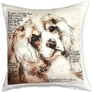 Pillow Decor - Cavalier King Charles Spaniel 17x17 Dog Pillow