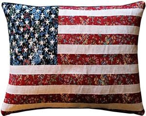 Pillow Decor - United States Flag Tapestry Throw Pillow 15x19