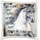 Pillow Decor - Do Unto Your Horse Stallion Throw Pillow 17x17