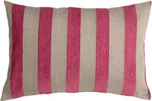 Pillow Decor - Brackendale Stripes Pink Rectangular Throw Pillow