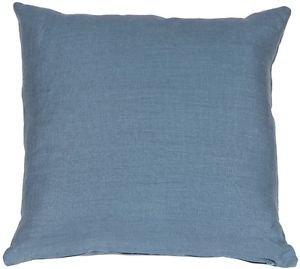 Pillow Decor - Tuscany Linen Wedgewood Blue 20x20 Throw Pillow