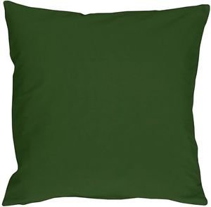 Pillow Decor - Caravan Cotton Forest Green 16x16 Throw Pillow