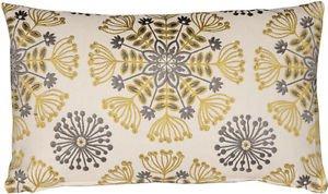 Pillow Decor - Waverly Kaleidoscope Sterling 12x20 Throw Pillow