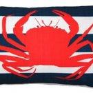 Pillow Decor - Red Crab Nautical Throw Pillow 12X20  - SKU: PD2-0022-01-92