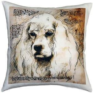 Pillow Decor - American Cocker Spaniel 17x17 Dog Pillow  - SKU: LE1-0001-01-17