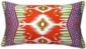 Pillow Decor - Electric Ikat Orange 15x27 Throw Pillow  - SKU: VC1-0009-02-97