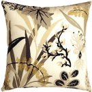 Pillow Decor - Waverly Fishbowl Caviar 20x20 Outdoor Pillow