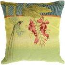 Pillow Decor - Long-Tailed Humming Bird Pillow - SKU: AB1-5035-00-19