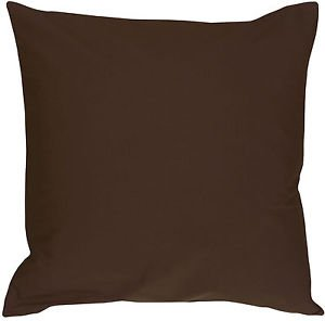 Pillow Decor - Caravan Cotton Brown 18x18 Throw Pillow  - SKU: SE1-0001-15-18