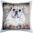 Pillow Decor - British Bulldog 17x17 Dog Pillow  - SKU: LE1-0009-01-17