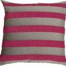Pillow Decor - Brackendale Stripes Pink Throw Pillow  - SKU: SD1-0002-03-22