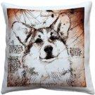 Pillow Decor - Pembroke Welsh Corgi 17x17 Dog Pillow  - SKU: LE1-0027-01-17