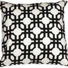 Pillow Decor - Waverly Groovy Grille Licorice 22x22 Throw Pillow