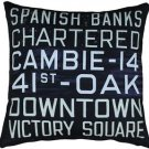 Pillow Decor - Vancouver Bus Scroll 20x20 Throw Pillow  - SKU: MOV-0002-01-20