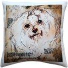 Pillow Decor - Maltese 17x17 Dog Pillow  - SKU: LE1-0025-01-17