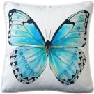 Pillow Decor - Costa Rica Robin's Egg Butterfly Throw Pillow 20x20
