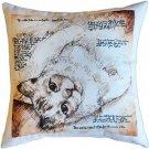 Pillow Decor - The Love of Cats 17x17 Throw Pillow  - SKU: LE1-0005-01-17