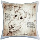 Pillow Decor - Airedale Terrier 17x17 Dog Pillow  - SKU: LE1-0006-01-17